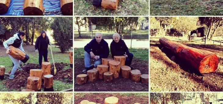 Volontari del Comitato: arredi in legno l'Asilo Nido di Belvedere Montello