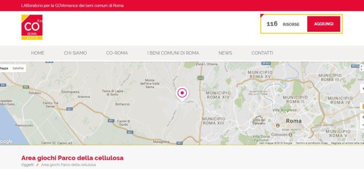 """LABoratorio per la GOVernance dei beni comuni di Roma: """"Area giochi Parco della cellulosa"""""""