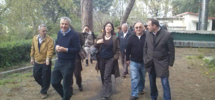 PARCO DELLA CELLULOSA: visita dell'Assessore Comunale Estella Marino