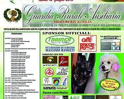 Evento: Mostra Canina, Guardia Rurale Ausiliaria Coordinamento Nazionale Roma