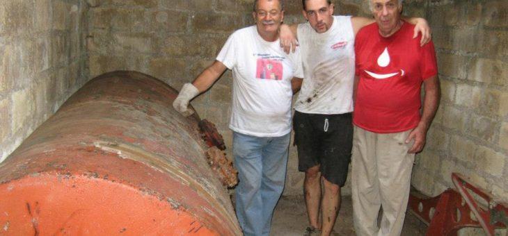 VOLONTARI COMITATO: INIZIATIVA Pulizia nuovo locale e Taglio cisterna