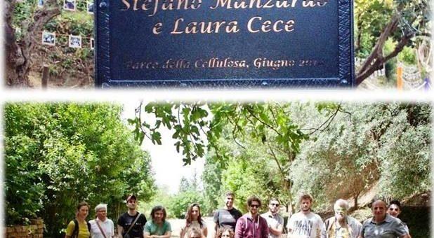 """Inaugurazione dell'area giochi alla memoria di """" Stefano Manzardo e Laura Cece""""."""