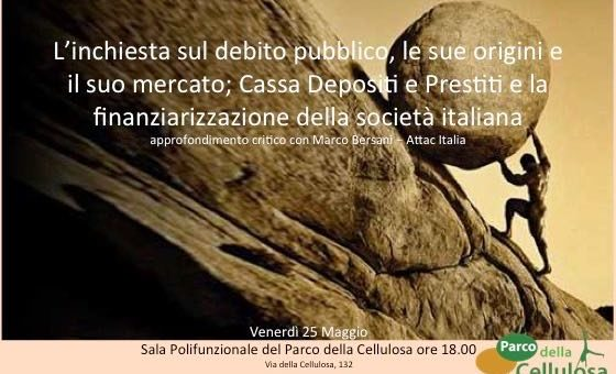 Officine Culturali Roma Nord Ovest: 25 maggio – approfondimento sul tema del debito pubblico