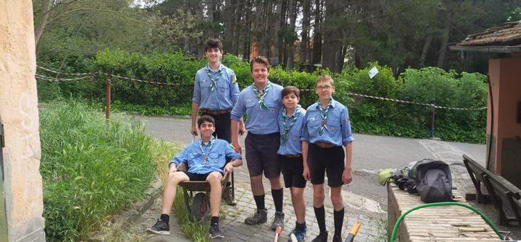Gruppo Scout Roma 150 – Squadriglia Lupi: Giornata di manutenzione al Parco