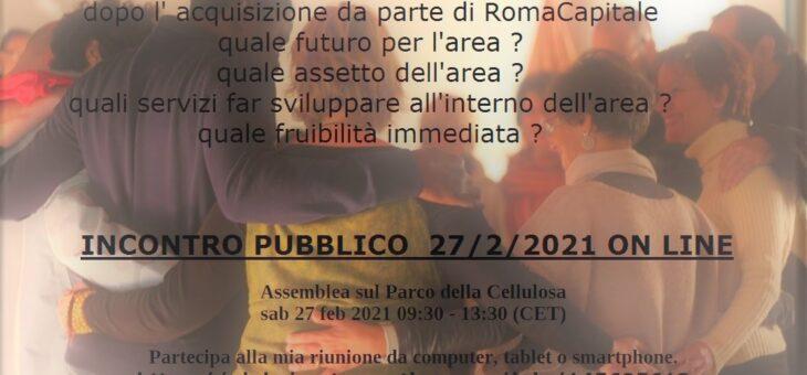 ASSEMBLEA PUBBLICA ON LINE PARCO DELLA CELLULOSA